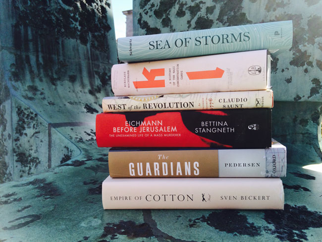The six books shortlisted for the $75,000 Cundill prize. / Photo: Laurie Devine