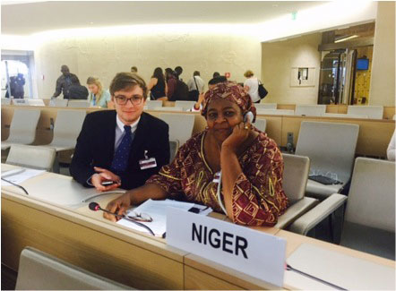 Felix Keser was part of the IPACC at the Expert Mechanism on the Rights of Indigenous Peoples in Geneva. / Photo courtesy of Felix Keser