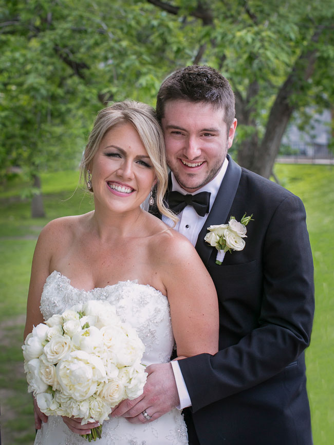 Earlier this summer, Allard married Megan Smith Morin at Birks Chapel. / Photo courtesy of Mathieu Allard