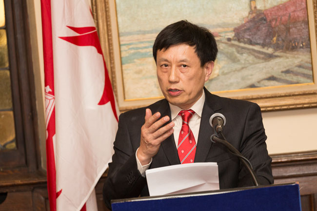 """As a proud McGill graduate I am pleased to support this initiative and the vast potential it has to serve as a bridge between the past and the present, West and East, and science and the humanities,"" said Dr. Yan P. Lin. / Photo: Paul Fournier"