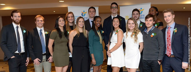 McGill student-athletes received 17 bursaries at the 2015 Quebec Foundation gala. / Photo courtesy of the FAEQ