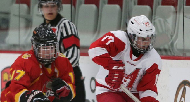 Martlet captain Mélodie Daoust is a Team Canada veteran, having first donned the Maple Leaf jersey in 2009.