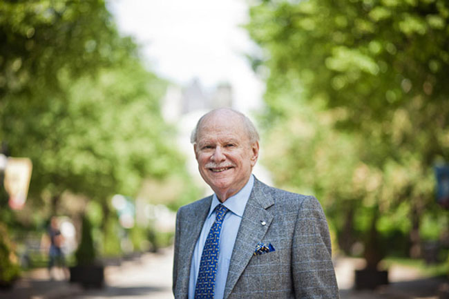 """Other than family, [being McGill's Chancellor] is the thing that's given me the most pride in my entire life,"" said H. Arnold Steinberg in a 2014 interview. ""Nothing compares to this."" / Photo: William Lew"
