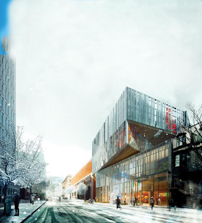 Le Pavillon pour la paix Michal et Renata Hornstein – le cinquième du Musée des beaux-arts de Montréal – sera inauguré en novembre prochain dans le cadre des célébrations du 375e anniversaire de Montréal. / Image : Atelier TAG