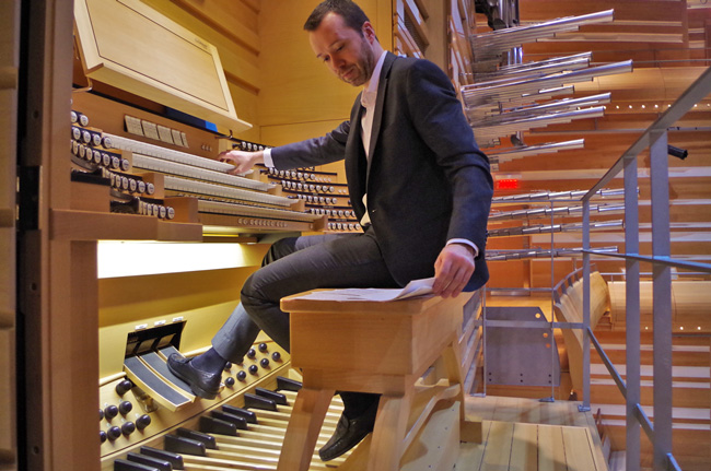 Jean-Willy Kunz is the first Organist in Residence with the Orchestre Symphonique de Montréal. / Photo: Doug Sweet