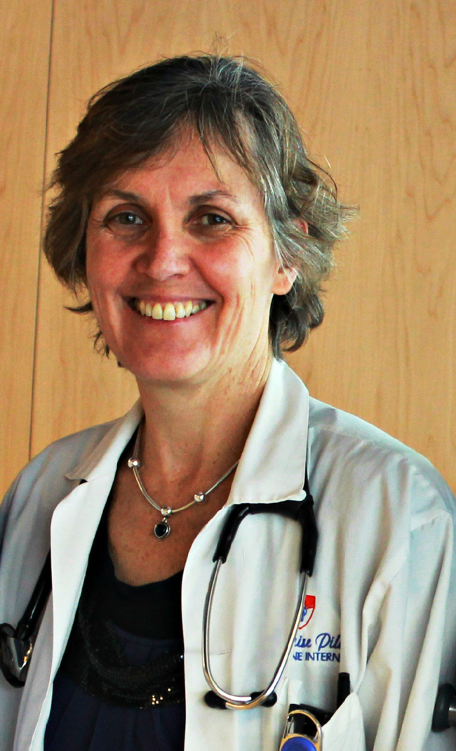 Dr. Louise Pilote, Director of the General Internal Medicine division at the MUHC.