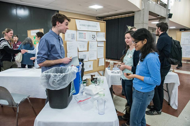 Learning about recycling and composting at the recent Sustainability Projects Showcase. / Photo: ManLi Que