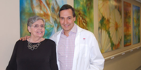 Marguerite Dubeau and Dr. Alan Barkun, McGill University Health Centre gastroenterologist and epidemiologist.
