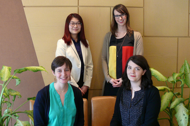 Event organizers, (bottom row, left to right): Charlotte Guillet and Rebecca Dorner; (top row, left to right): Yan Jun Chen and Tracy Schaan.