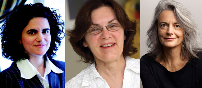 From left to right: Antonia Maioni,  Ghyslaine McClure and Brigitte Kieffer will be featured panelists in the upcoming In Her Own Words event.