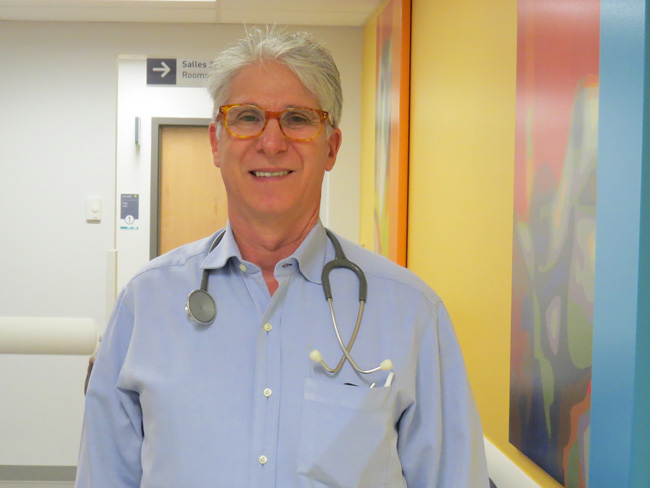 Dr. Larry Lands, director of Pediatric Respiratory Medicine and CF clinic at the Montreal Children's Hospital. / Photo courtesy of the MUHC