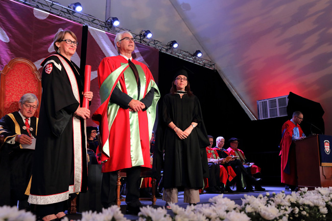 John Bergeron was awarded the McGill medal as part of the Health Sciences Convocation ceremony on May 31. / Photo: Owen Egan