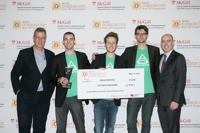 Innovation Driven Enterprise Track 1st Place Winner ($15,000) — Taiga Motors