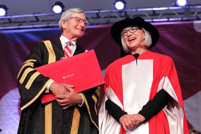 The Right Honourable Beverley McLachlin and Chancellor Michael A. Meighen. / Photo: Owen Egan