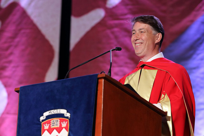 Paul T. Anastas delivers is Convocation address. / Photo: Owen Egan