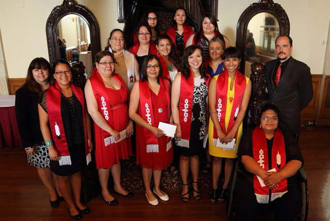 Since 2011, Indigenous students graduating from McGill have been presented with ceremonial scarves acknowledging the importance of Indigenous students and their ties to the University.