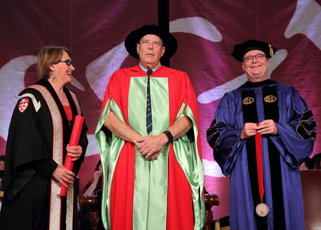 Donald Taylor is awarded the McGill Medal. / Photo: Owen Egan