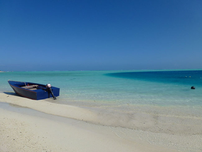 Matira Beach at Bora Bora island. Photo: Sophie Brosseau