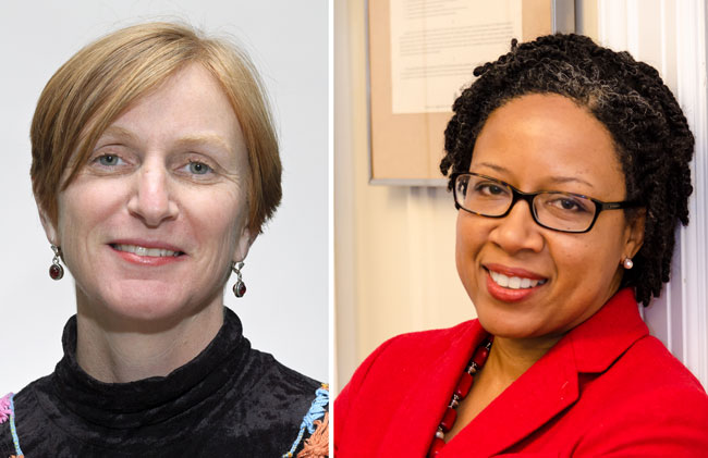 Professors Catherine Potvin (left) and Adelle Blackett have been named 2016 Trudeau Fellows.