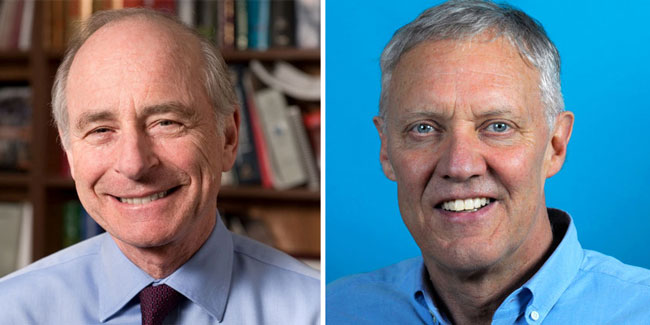 Ernesto Schriffrin (left) and Michael Meaney have each been awarded a Margolese Prize by UBC.