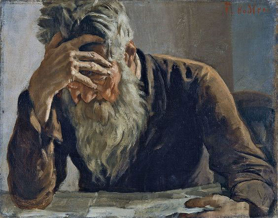 Ferdinand Hodler The reader (1885)