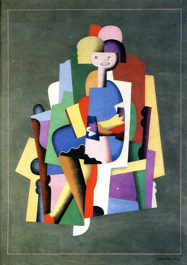 Georges Valmier, Girl-Reading (1924)