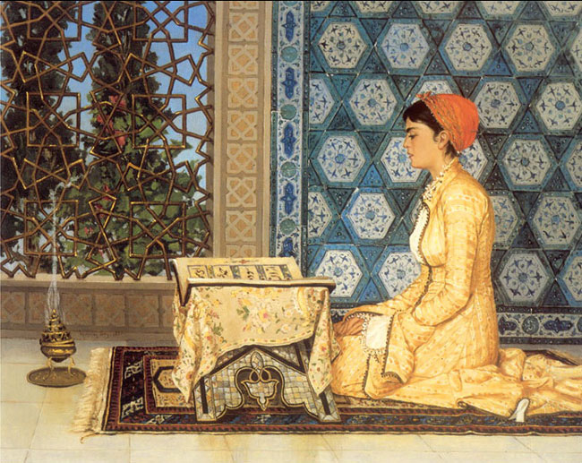 Osman Hamdi Bey, Girl reciting Qur'an (1880)