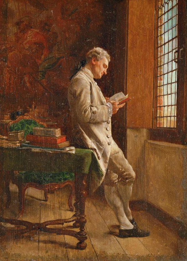 Jean Louis Ernest Meissonier, The Reader in White (1857)
