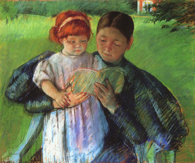 Mary Cassatt, Nurse reading to a little girl (1895)