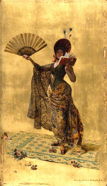 Pinckney Marcius Simons, Woman with a fan, reading