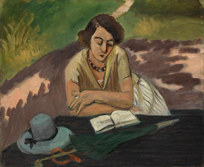 Henri Matisse, Reading woman with parasol (1921)