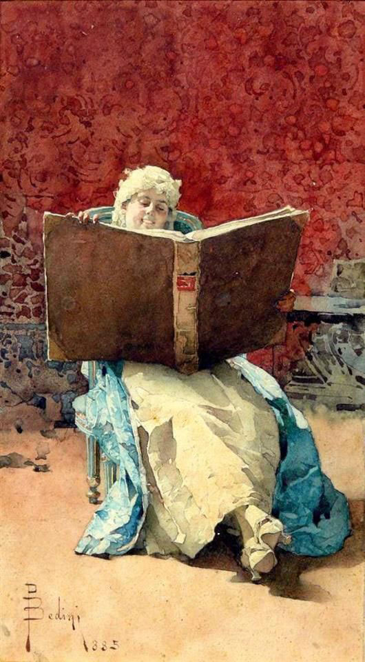 Paolo-Bedini, The Reading 1885