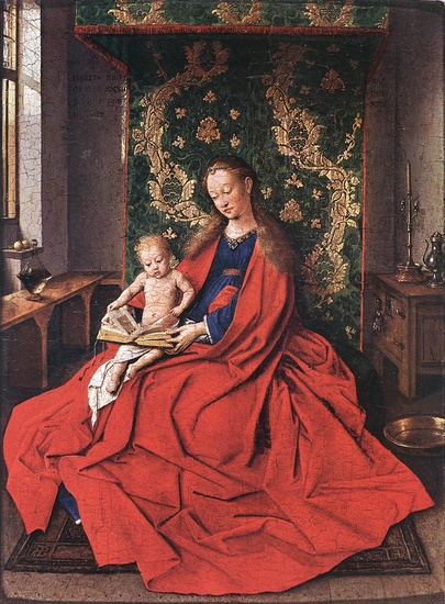 Jan Van Eyck, Madonna with the child reading (1433)