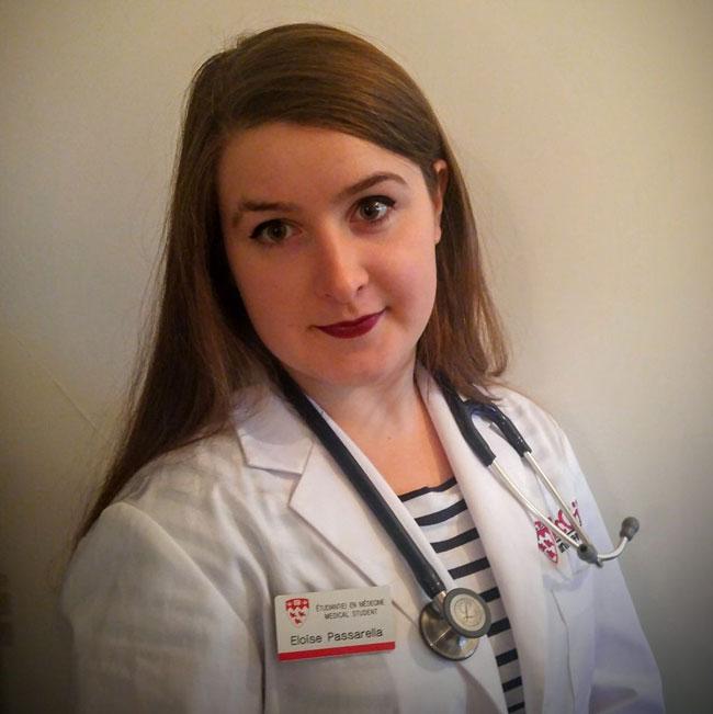 First-year medical student Eloise Passarella.