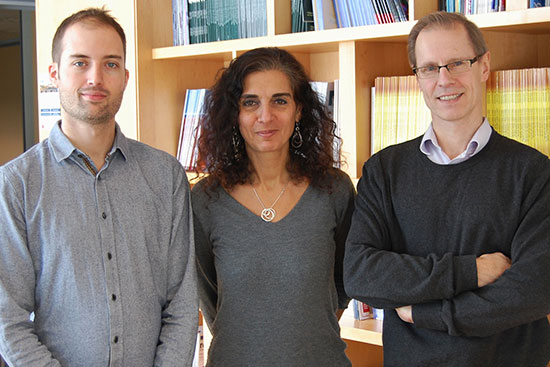 Simon Papillon-Cavanagh, McGill PhD candidate, Dre Nada Jabado and Jacek Majewski, PhD