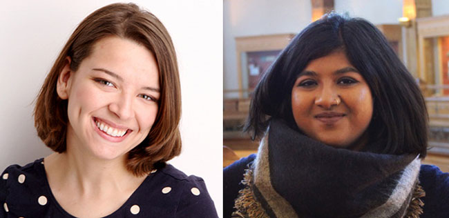 McGill students Simone Cavanaugh (left) and Neha Rahman are new appointees to the Prime Minister's Youth Council.