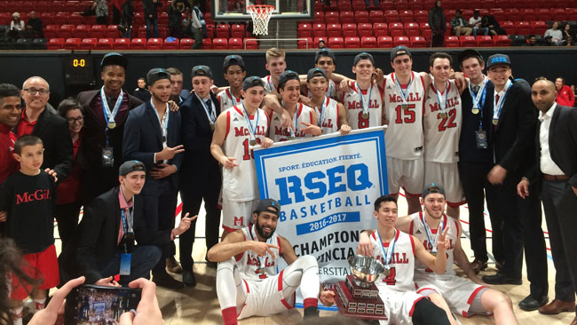 The Redmen basketball team won it's fourth conference banner in five years this past weekend.