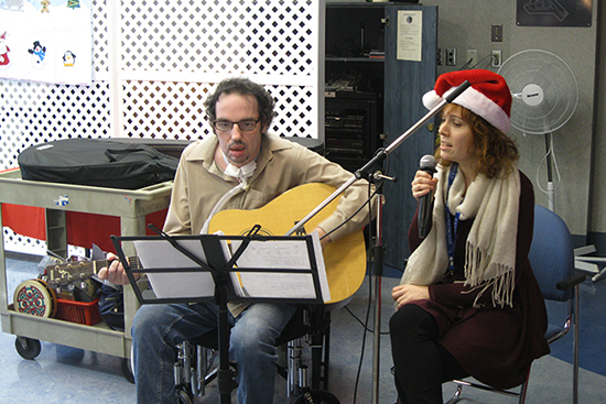 Hans Stutz and Joanie Ayotte began their musical collaborating over the past holiday season.