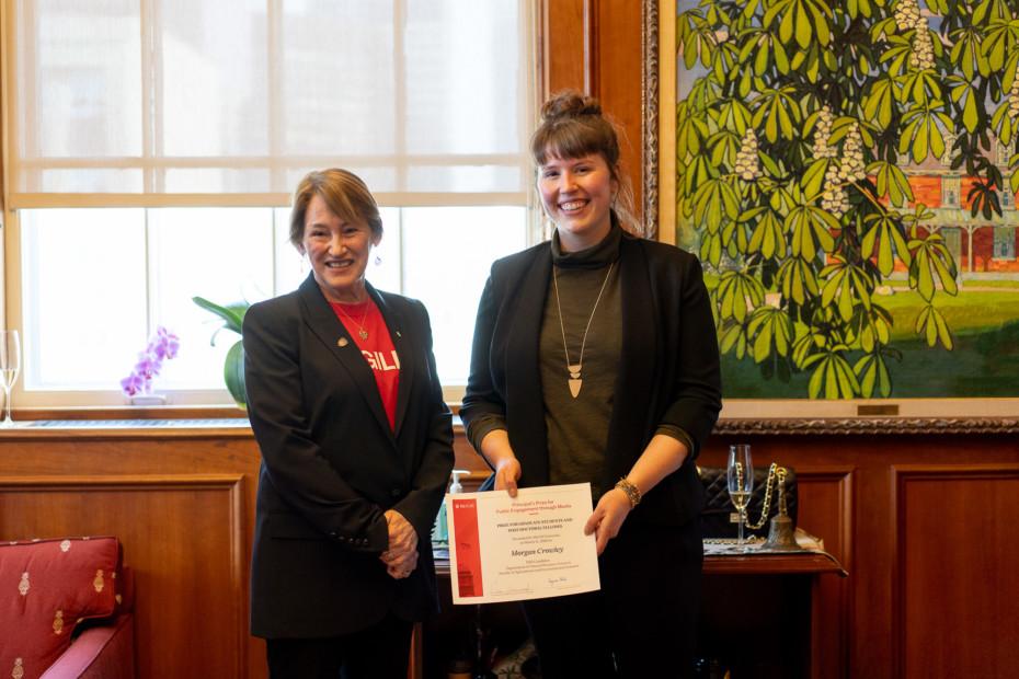Principal's Prize for Public Engagement through Media