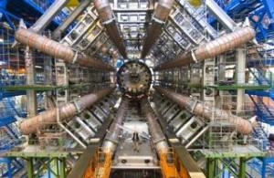Installing the ATLAS Calorimeter - November 2005. / Photo courtesy of CERN