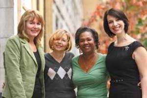 From left to right: Shelley Johnston, Diane Miller, Cheryl McKnight, Elvie Coletta. / Photo: Owen Egan