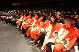 Some of the more than 700 graduating students at the Fall Convocation ceremonies. / Photo: Owen Egan