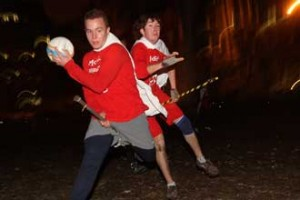 McGill's Quidditch team shows no signs of hanging up the brooms for the season.  The down to earth version of the game came to McGill in September. / Photo: Owen Egan