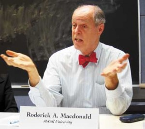 Roderick Macdonald, the F.R. Scott Professor of Constitutional and Public Law at McGill, was elected President of the Royal Society of Canada.
