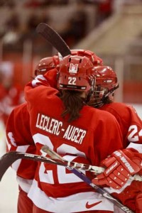 Martlets forward Marie-Andrée Leclerc-Auger, a freshman from Sherbrooke, Que., had a hat trick and two assists as McGill dismantled the University of Toronto Varsity Blues 9-0 and won the annual Theresa Humes women's hockey tournament at Concordia's Ed Meagher arena last Sunday. / Photo: Andrew Dobrowolskyj courtesy McGill Athletics and recreation.
