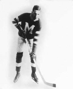 Hockey hall of famer Frank Patrick graduated from MvGill in 1908. The NHL rulebook carries 22 pieces of legislation that he originated, including the introduction of the blue line. Photo courtesy McGill Athletics and Recreation.