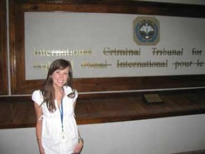 Jeannine Plamondon at the Office of the Prosecutor at the International Criminal Tribunal for Rwanda in Tanzania.