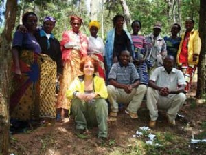 Sarah Woolf (front left) with the members of the newly elected board of the beekeeping cooperative in Butare, Rwanda. Photo courtesy of Sarah Woolf