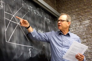 Ten McGill Economics professors, including George Grantham (above), got together to create ECON 319, an internmediate-level course on economic crises with a particular focus on the current global crisis. / Photo: Owen Egan