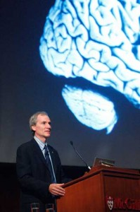 Dr. Marc Tessier-Lavigne delivers rhe 2009 Beatty Memorial Lecture. / Owen Egan